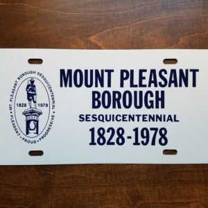 150th Anniversary License Plate